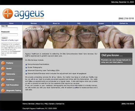 Aggeus Healthcare - Optometry
